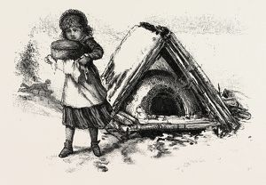 COOKING OUTDOORS, CANADA, NINETEENTH CENTURY ENGRAVING