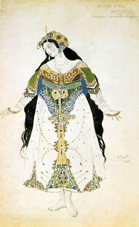 Costume design by Leon Bakst (1866-1924) Russian theatre and ballet designer, for