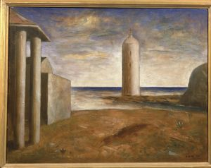 Czech, Prague, Lighthouse (Columns), 1921