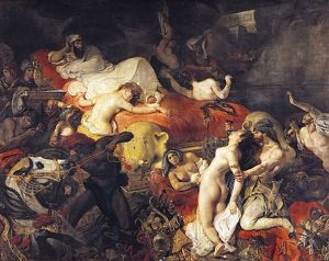 Death of Sardanapolis by Eugene Delacroix, (1798-1863) French Artist. The painting