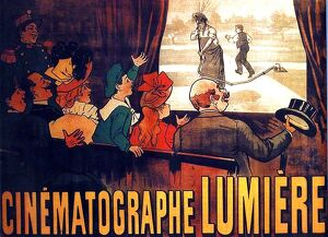 Early film poster for l'Arroseur Arrose screened by the Lumiere Brothers circa 1895