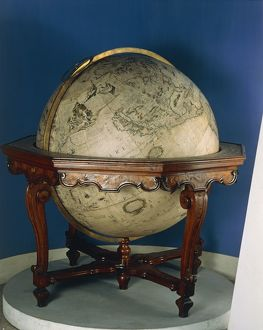 Earth globe by Vincenzo Coronelli, 1688