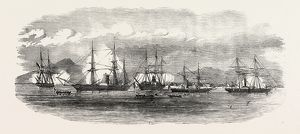 English And French Steamers In The Harbour Of Gonaive