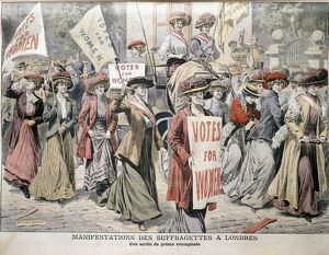 English suffragettes on London streets