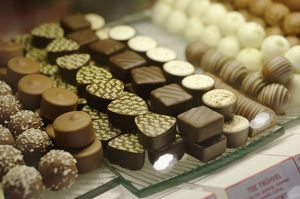 Estonia, Tallinn, Cafe Mademoiselle, selection of chocolates