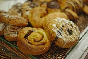 Estonia, Tallinn, pastry swirls at Mademoiselle cafAZ