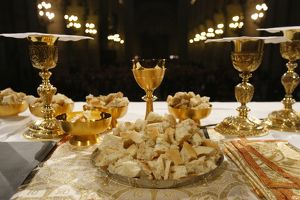 Eucharist in Notre Dame cathedral