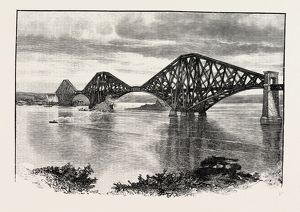 FORTH BRIDGE, FROM THE SOUTH-WEST. The Forth Bridge is a cantilever railway bridge