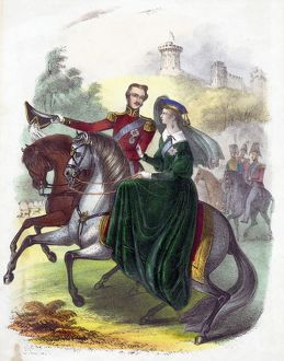 of Fortune - Noblet Tarot, 1d Prince Albert riding in Windsor Park when young