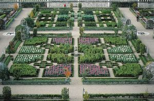 France, Centre, Loire Valley, Villandry Castle, gardens