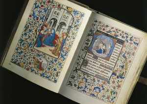 France, The descent of the Holy Spirit, miniature from the Breviary of Marie de Bourgogne