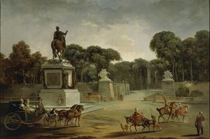 France, Entrance to Tuileries Palace in Paris in around 1775, Attributed to Jean-Baptiste Leprince