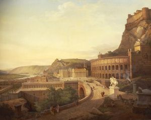 France, painting of Vienne in the Roman Period