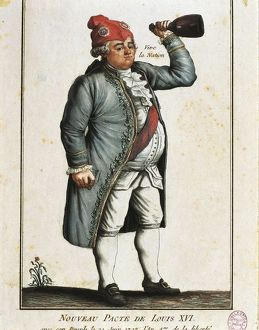 France, Paris, French Revolution, Long Live the Nation! Caricature of King Louis XVI (1754-1793)