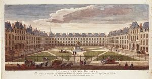 France, Paris, Place Royal (Royal Square) in 1752, illustration