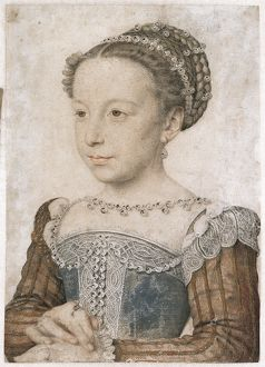 France, Portrait of Marguerite de Valois (also known as La Reine Margot (1553 - 1615)