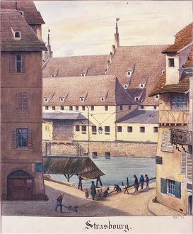 France, Strasbourg, Old Customs House Square, 19th century