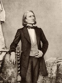 Franz (Ferencz) Liszt (1811-1886) Hungarian pianist and composer. After a photograph