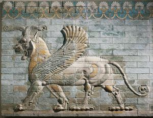 Frieze depicting griffin of glazed brick, from Palace of Darius I, from Shush (ancient Susa), Iran