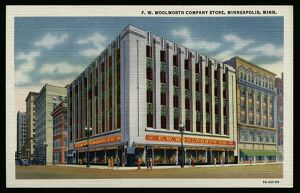 F.W. Woolworth Company Store. ca. 1937, Minneapolis, Minnesota, USA, GOPHER NEWS CO