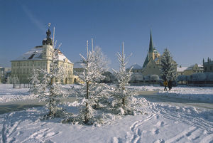 travel/germany bavaria altotting winter view snow