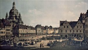 Germany, Dresden, New Market Square in Dresden, 1750, oil on canvas