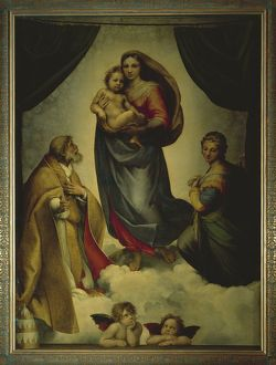 Germany, Dresden, Sistine Madonna, 1513-1514, oil on canvas