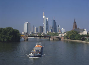 travel/germany frankfurt skyline frankfurt main reminiscent