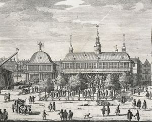 Germany, Hamburg, View of the main square, engraving