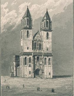 Germany, Magdeburg, View of Cathedral's facade