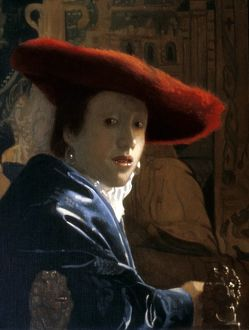 Girl with a Red Hat by Johannes Vermeer 1656 A.D