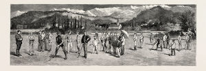 Golf At Pau France Engraving 1884
