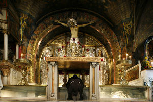 Golgotha chapel at the Church of the Holy Sepulchre