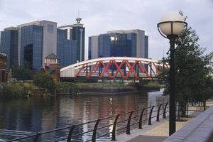 Great Britain, England, Manchester, Trafford Road Bridge, Manchester Ship Canal spanned