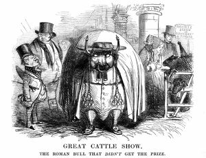 'Great Cattle Show'. The Roman Bull that didn't get the prize. Mr Punch