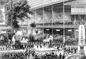 Great Exhibition, Crystal Palace, London. Queen Victoria opening exhibition 1 May 1851
