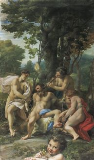 Greece and Rome, painting of Allegory of Vice