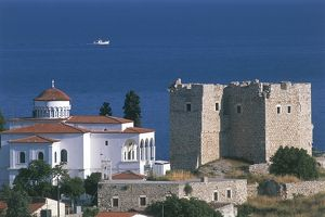 world heritage/building exterior/greece samos island pythagoreion ancient fortified