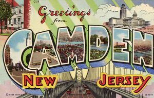 Greeting Card from Camden, New Jersey. ca