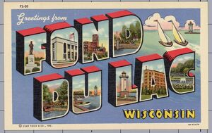 Greeting Card from Fond du Lac, Wisconsin. ca. 1941, Fond du Lac, Wisconsin, USA