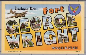 Greeting Card from Fort George Wright. ca