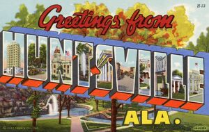 Greeting Card from Huntsville, Alabama. ca