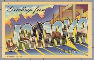 Greeting Card from Jamaica, New York. ca. 1943, Jamaica, Queens, New York, New York