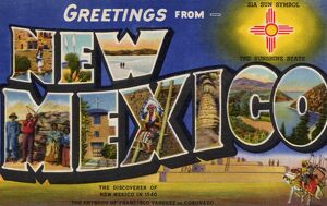 Greeting Card from New Mexico. ca. 1940, New Mexico, USA, G-24--NEW MEXICO
