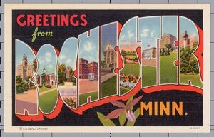 Greeting Card from Rochester, Minnesota. ca