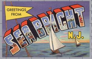 Greeting Card from Sea Bright, New Jersey. ca. 1952, Sea Bright, New Jersey, USA