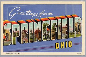 Greeting Card from Springfield, Ohio. ca