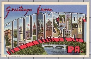 Greeting Card from Williamsport, Pennsylvania. ca. 1944, Williamsport, Pennsylvania