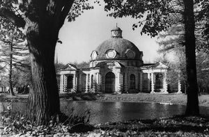 The grotto on the kuskovo estate in the moscow region of the ussr, 1949.
