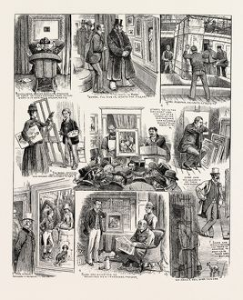 WHAT HAPPENS TO THE PAINTINGS, 1890 engraving